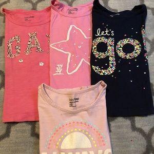 3 baby Gap t-shirts
